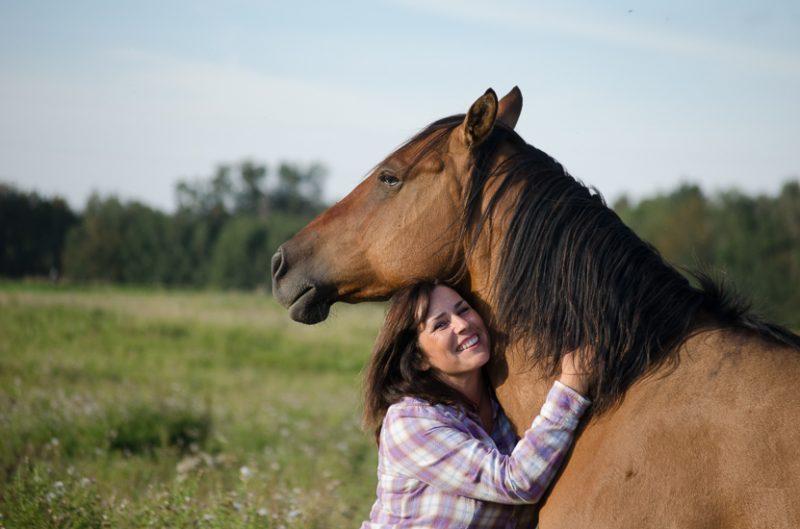 Er-Hugging horse