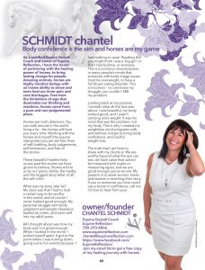 Chantel Schmidt Interview article. Womanization magazine