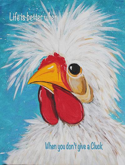 Linda Finstad Crazy Chicken illustration